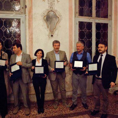 Componenti giuria 2016. Da sinistra: M. Patetta - A. Pasetti - P. Garengo - F. Peron – M. Fontoynont - M. Palandella (presidente)